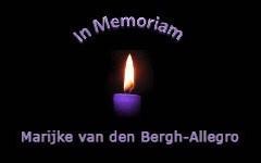 Bij het overlijden van Marijke van den Bergh-Allegro