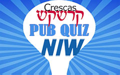 Voor mensen met sjoeche: de Crescas-NIW pub quiz!